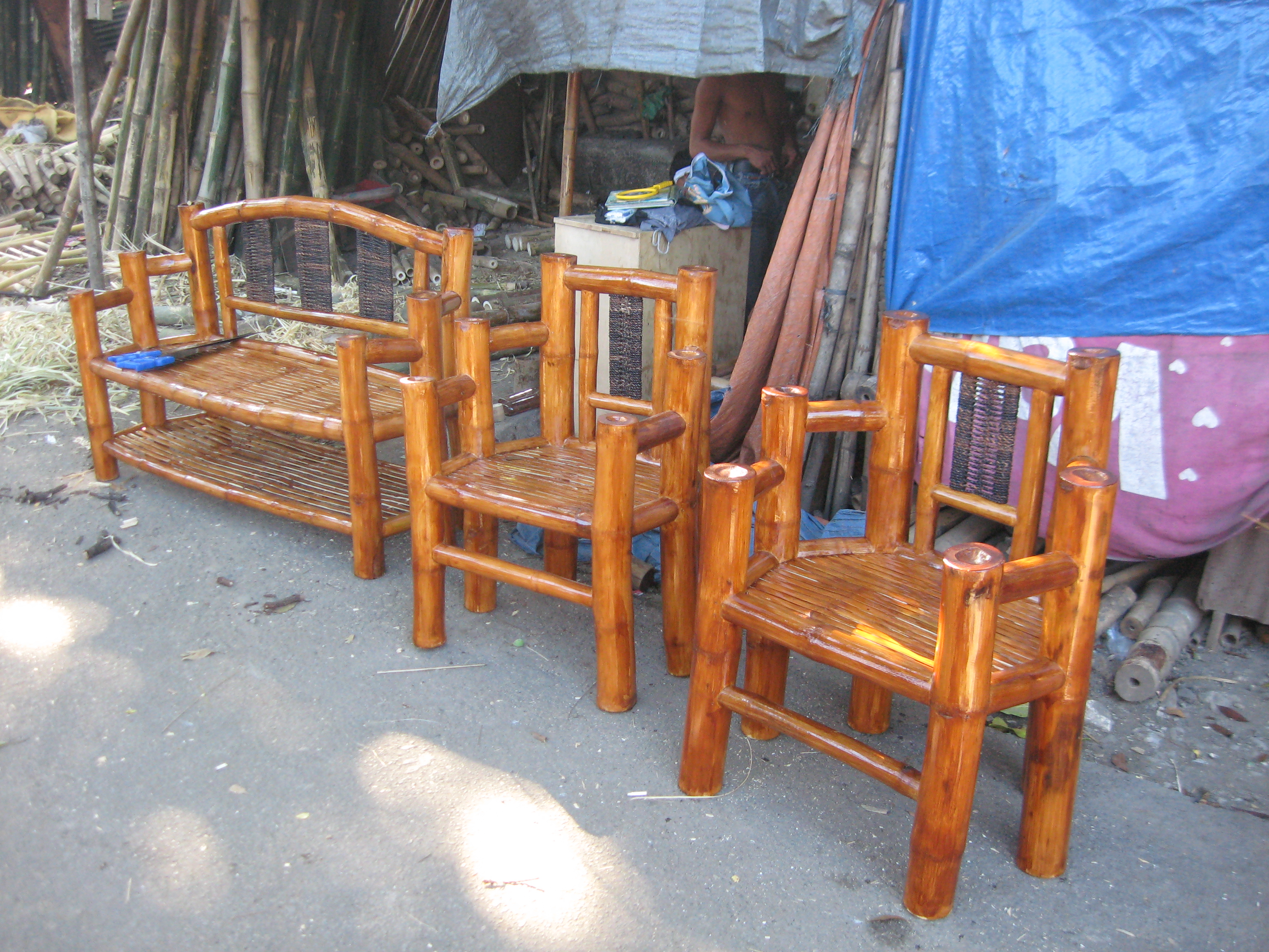 Wooden Sala Set Rizal The Bamboo Village Paddle With Hoz