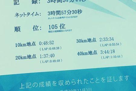 刺青だらけでも4時間切れちゃうんですvol.2#フルマラソン #作ac真駒内マラソン #札幌 #北海道 #北海道マラソン