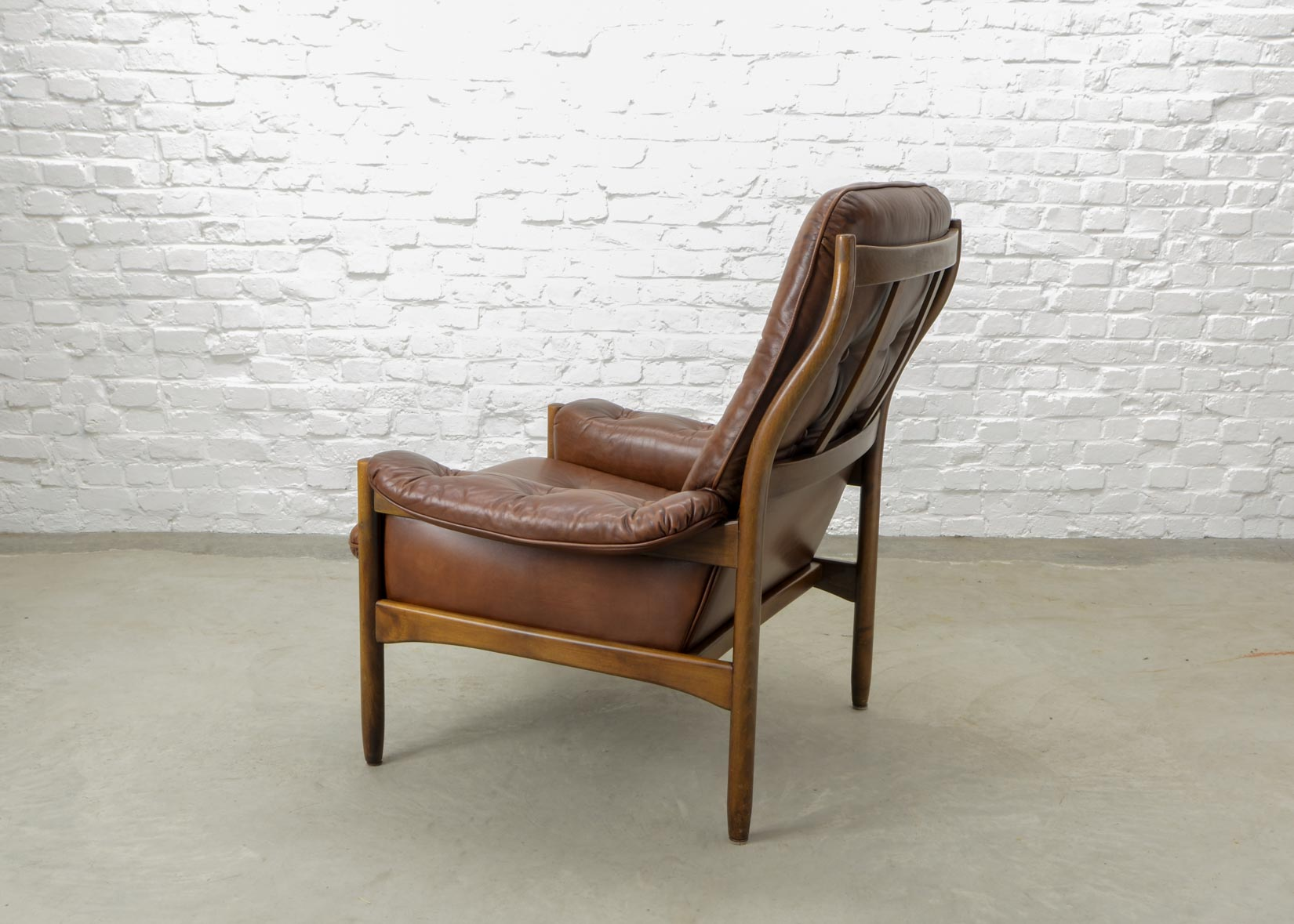 Möbel Scandinavian Design Mid Century Scandinavian Design Chestnut Leather Lounge Chair By G