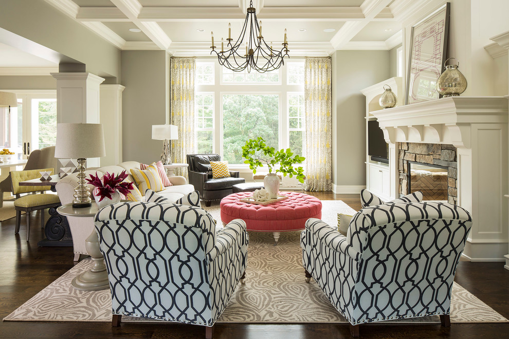 Decorating Captivating Round Tufted Ottoman In Outstanding Living - living room ottoman