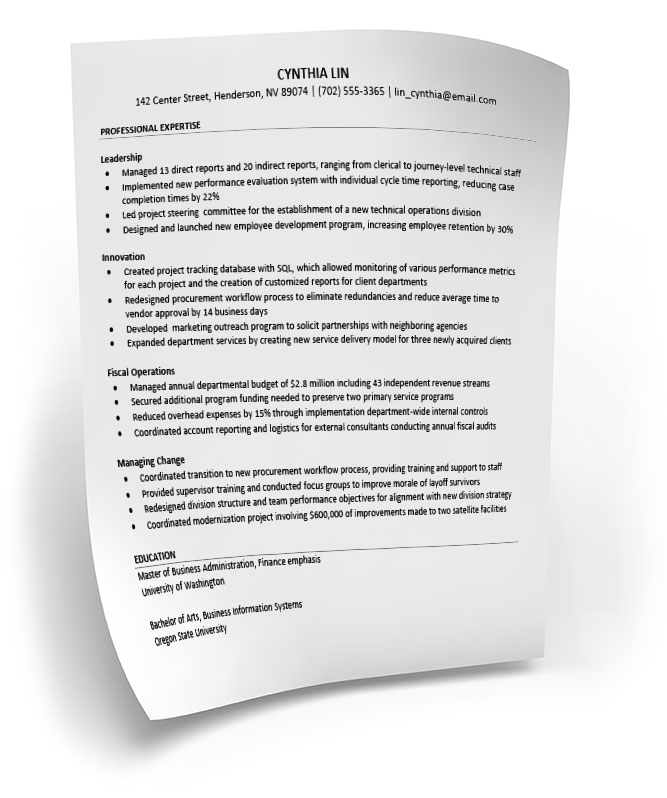 Resume Tips \u2013 LAC Jobs - some sample resumes