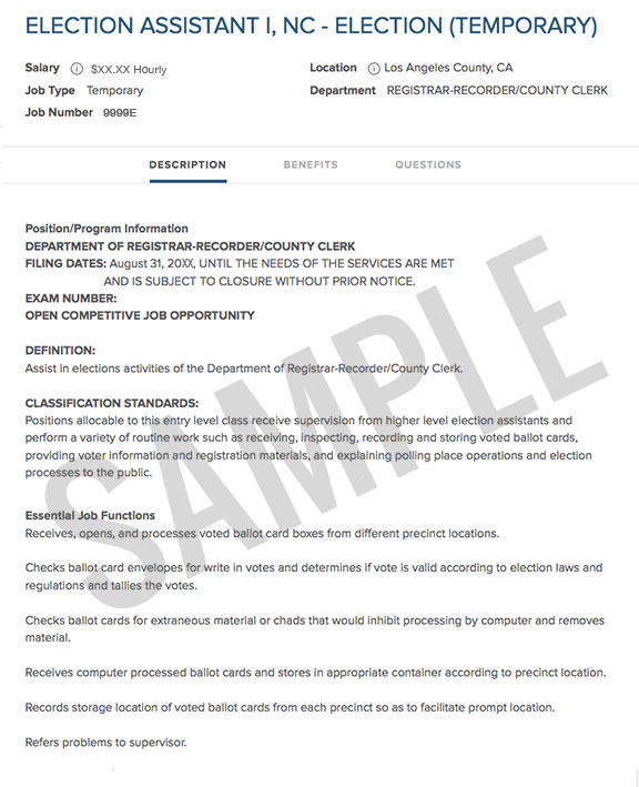 Interview Tips \u2013 LAC Jobs - county clerk sample resume