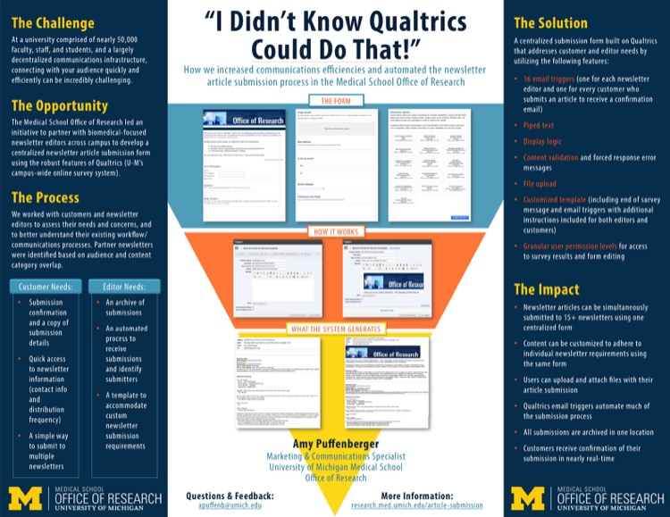 I Didn\u0027t Know Qualtrics Could Do That! How we increased - office newsletter