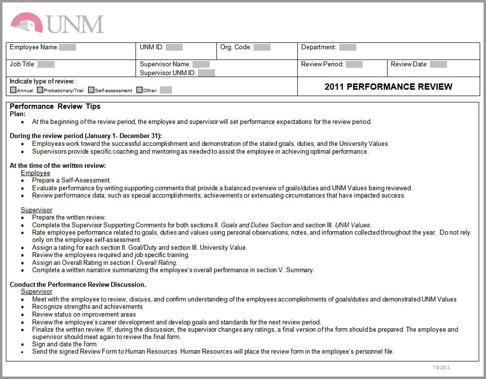 sample performance appraisal form for employees - Boatjeremyeaton