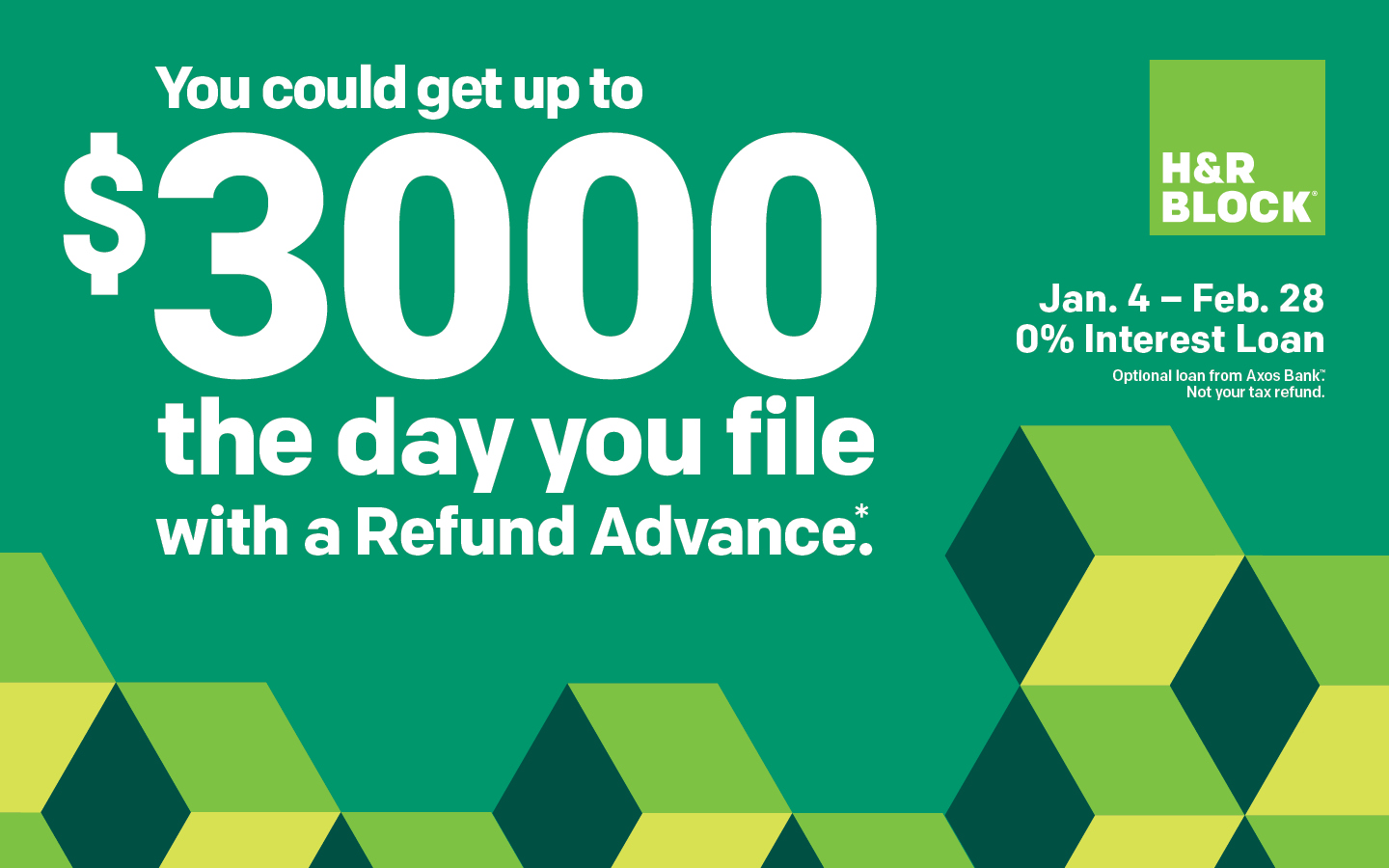 Diy Bank Holiday Offers How To Apply For Refund Advance For 2019 H R Block Newsroom