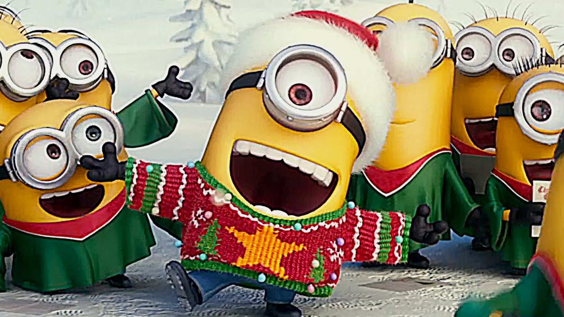 Falling Snow Live Wallpaper For Pc At The End Of The Day Minions For Christmas It Is