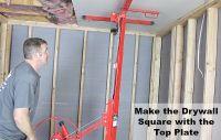 How to Hang Drywall on Ceilings   Home Repair Tutor