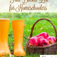 Fall Bucket List for Homeschoolers