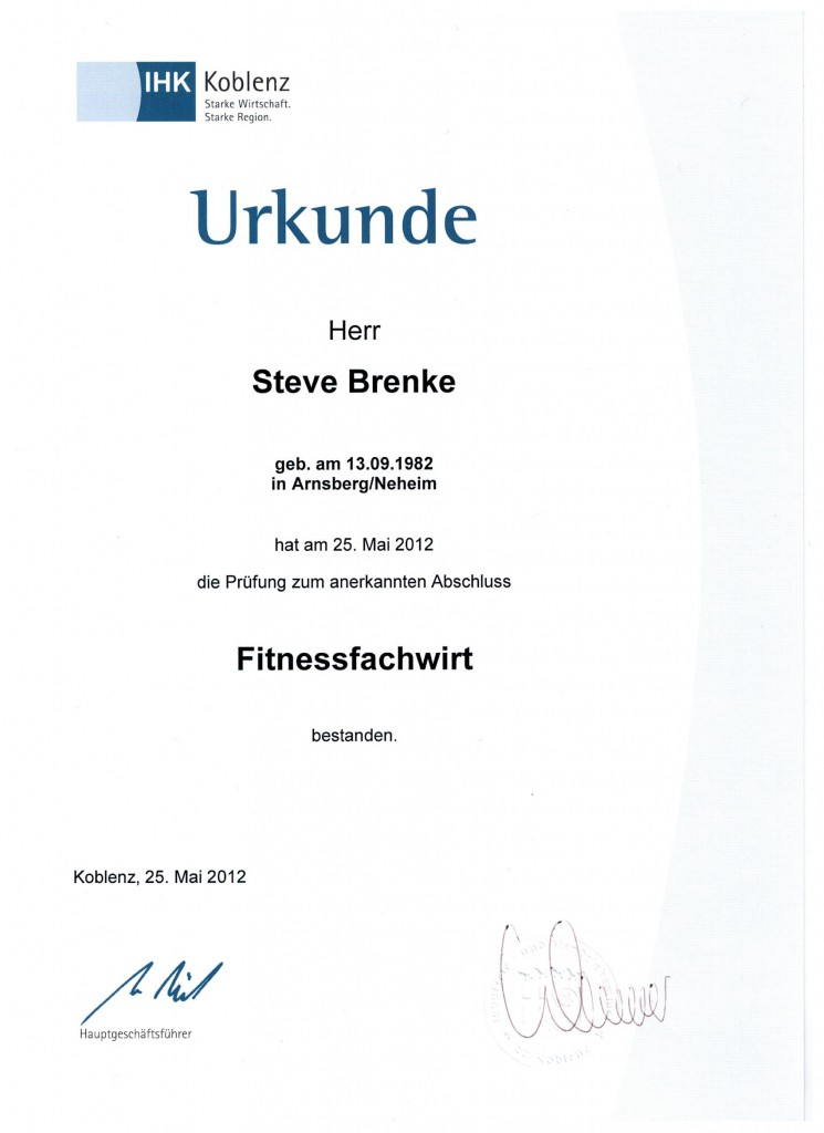 Hsk Olsberg Qualifikationen :: Personal Fitness Training In Brilon