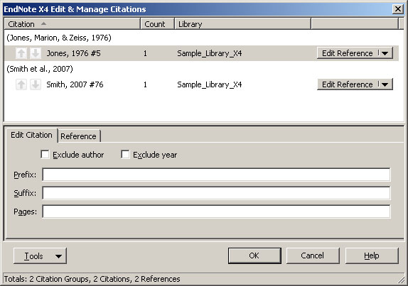 EndNote X5 Cite While You Write - Health Sciences Library