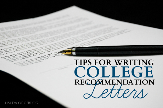 Tips for Writing College Recommendation Letters Homeschooling Now - college recommendation letter
