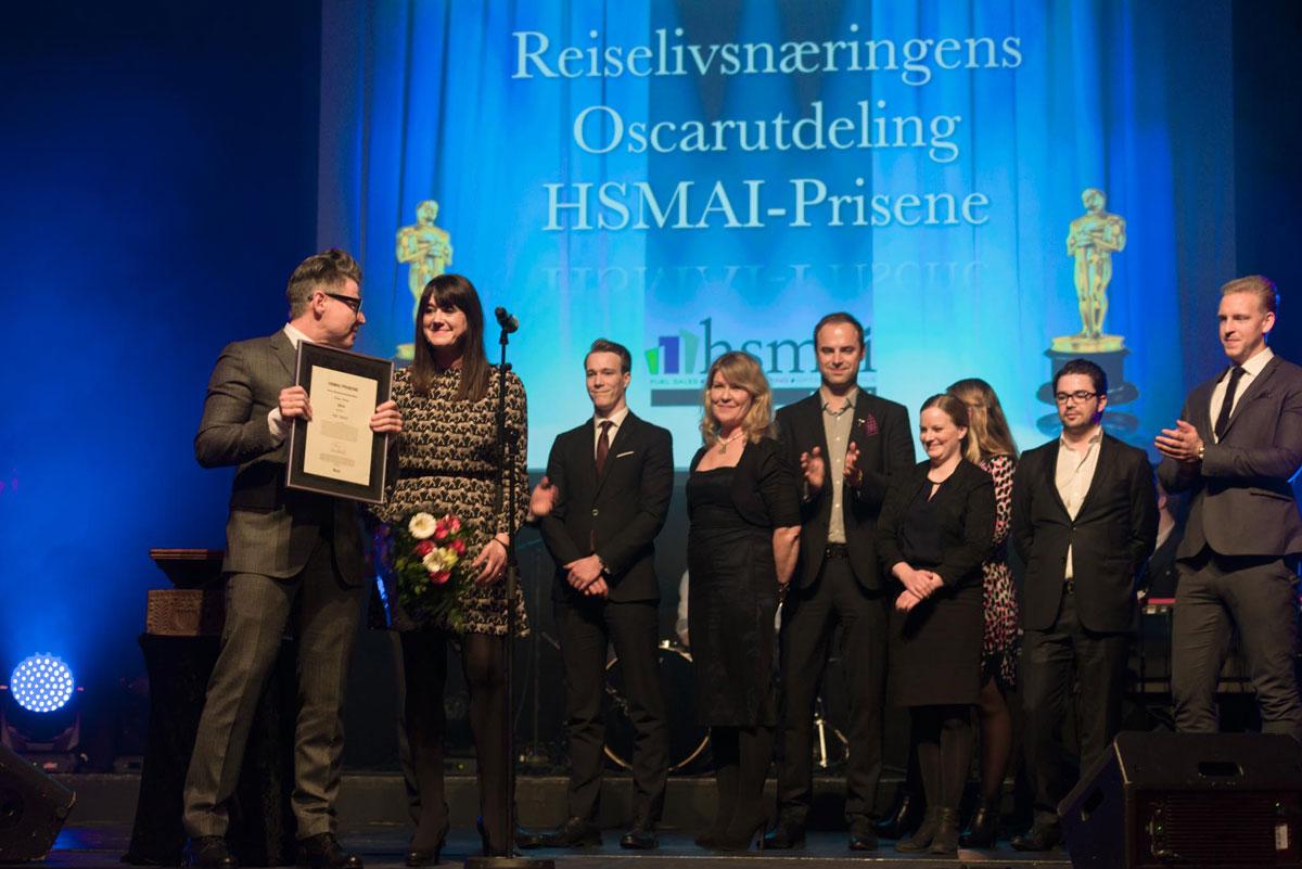 THE THIEF ble torsdag kveld kåret til Årets reiselivsmarkedsfører 2014, og mottok Ferdaprisen fra HSMAI. Fotograf: Gunnar Kopperud, photowalk.no/konferansefotografering.no