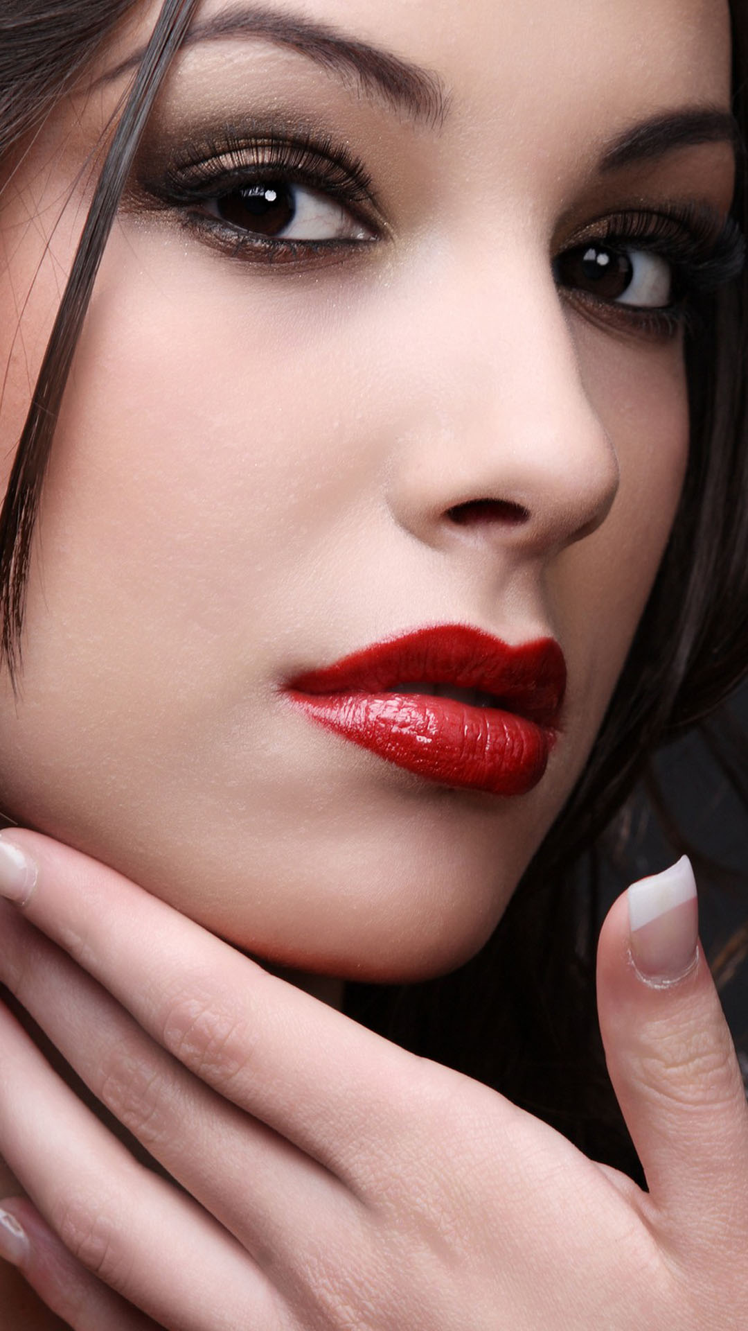 Cool Girl Wallpapers For Mobile Phones Red Lipstick Portrait Best Htc One Wallpapers