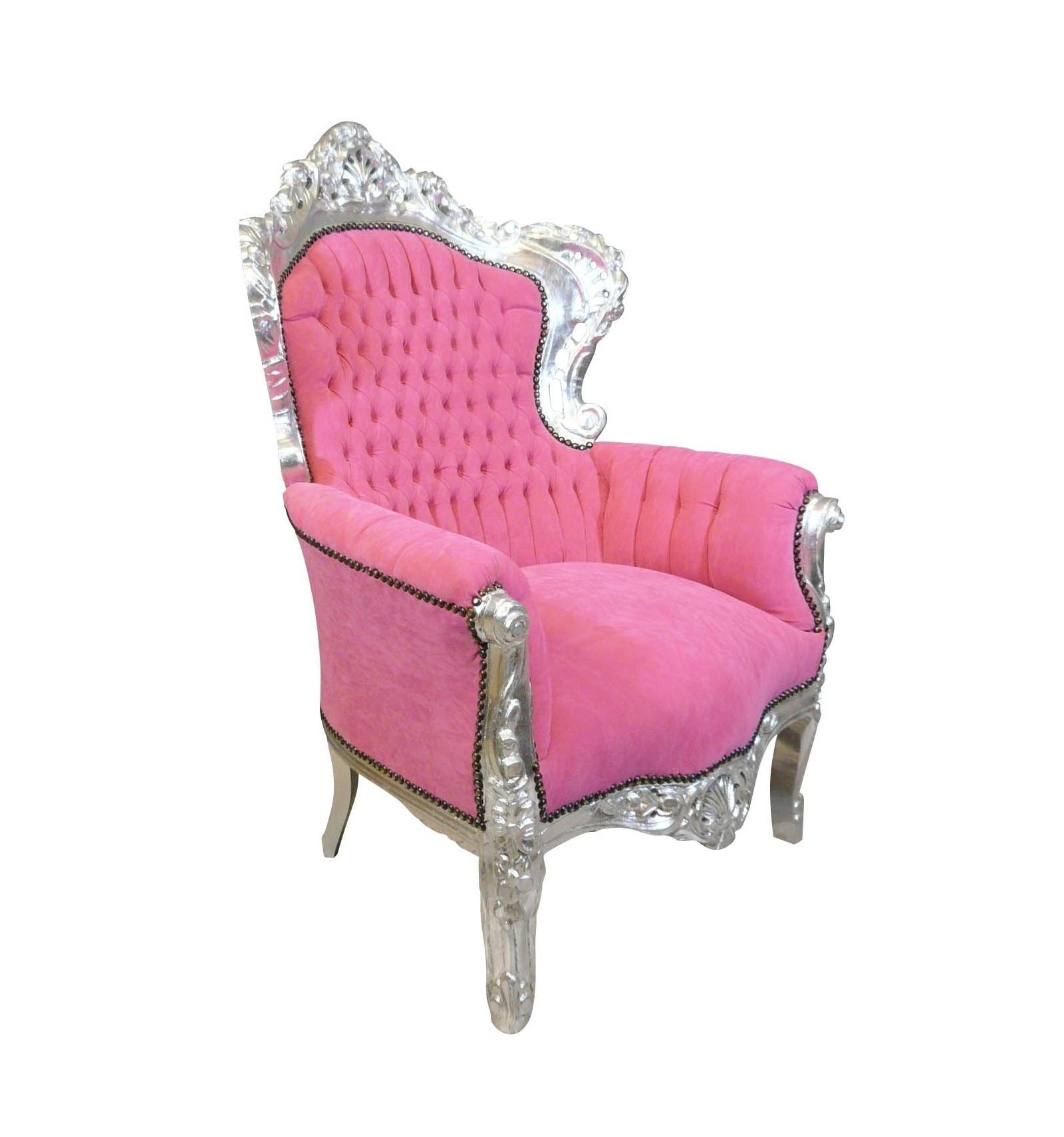 Fauteuil Baroque Rose Mobilier En Bois