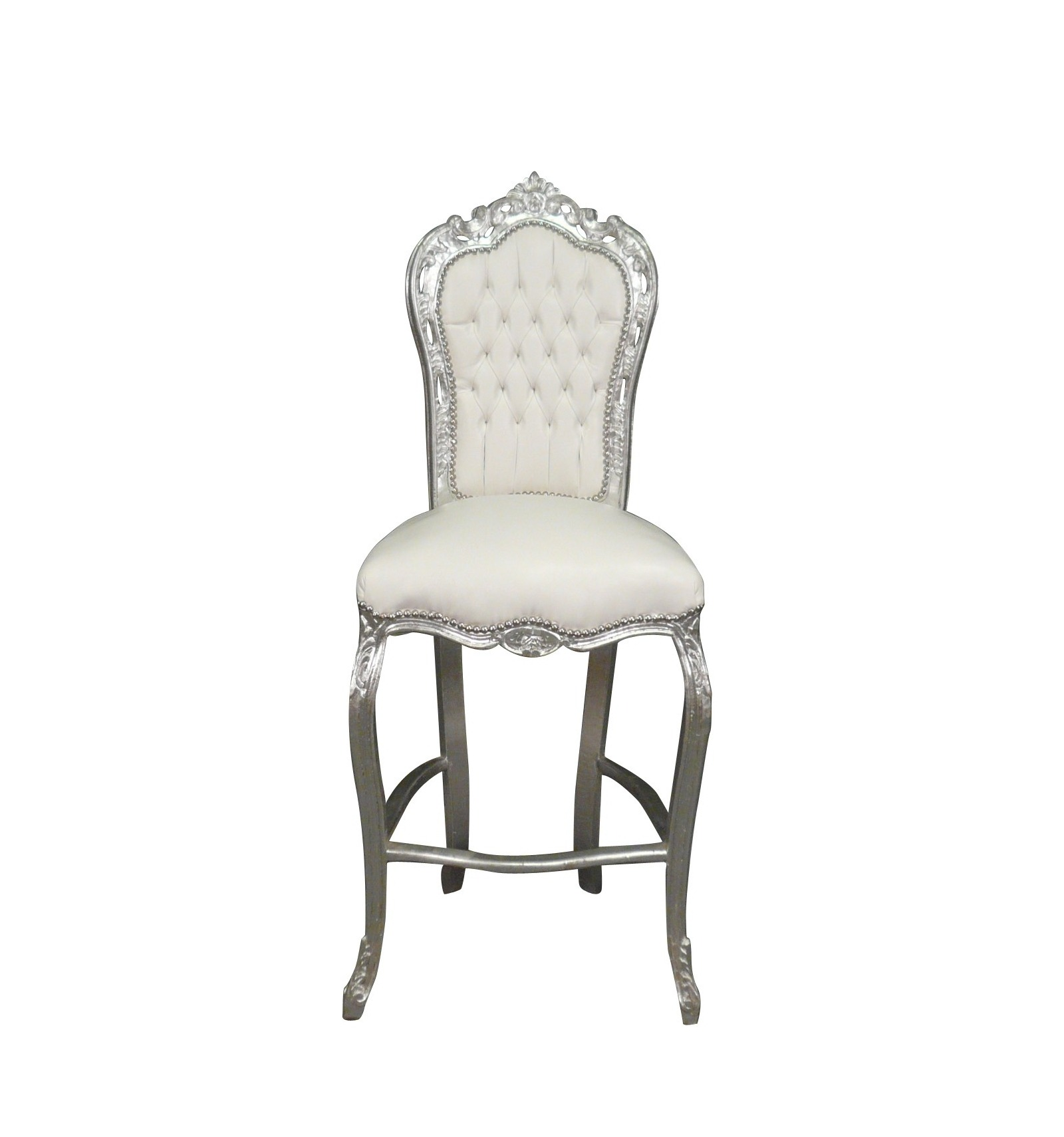 Chaise Style Louis Xv Chaise Baroque De Bar Blanche Meuble Baroque