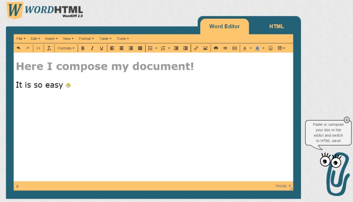Free Online Word Document to HTML Converter