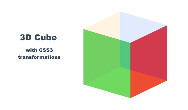 Drawing Cube With CSS3 Transform Animation with JS