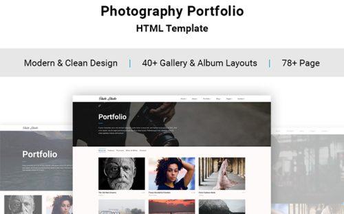 Top 20 Creative Portfolio HTML5 Themes for Photographers - online portfolio template