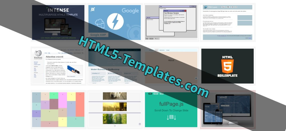 Free and Simple HTML5 Templates - html5 template tag