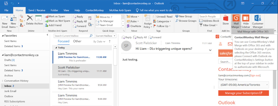 How To Send HTML Emails In Outlook Office 365 with ContactMonkey