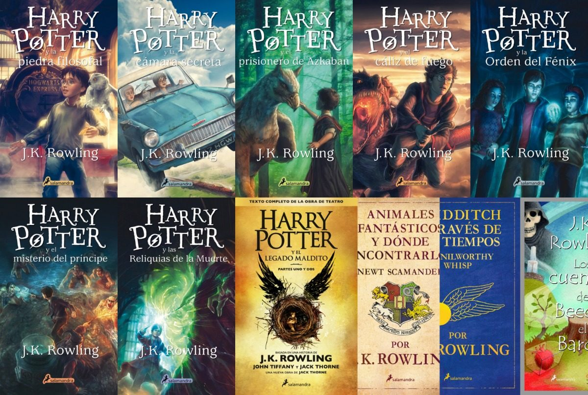 Pack Todos Los Libros De Harry Potter 11 Libros Saga Harry Potter Animales Fantasticos J K