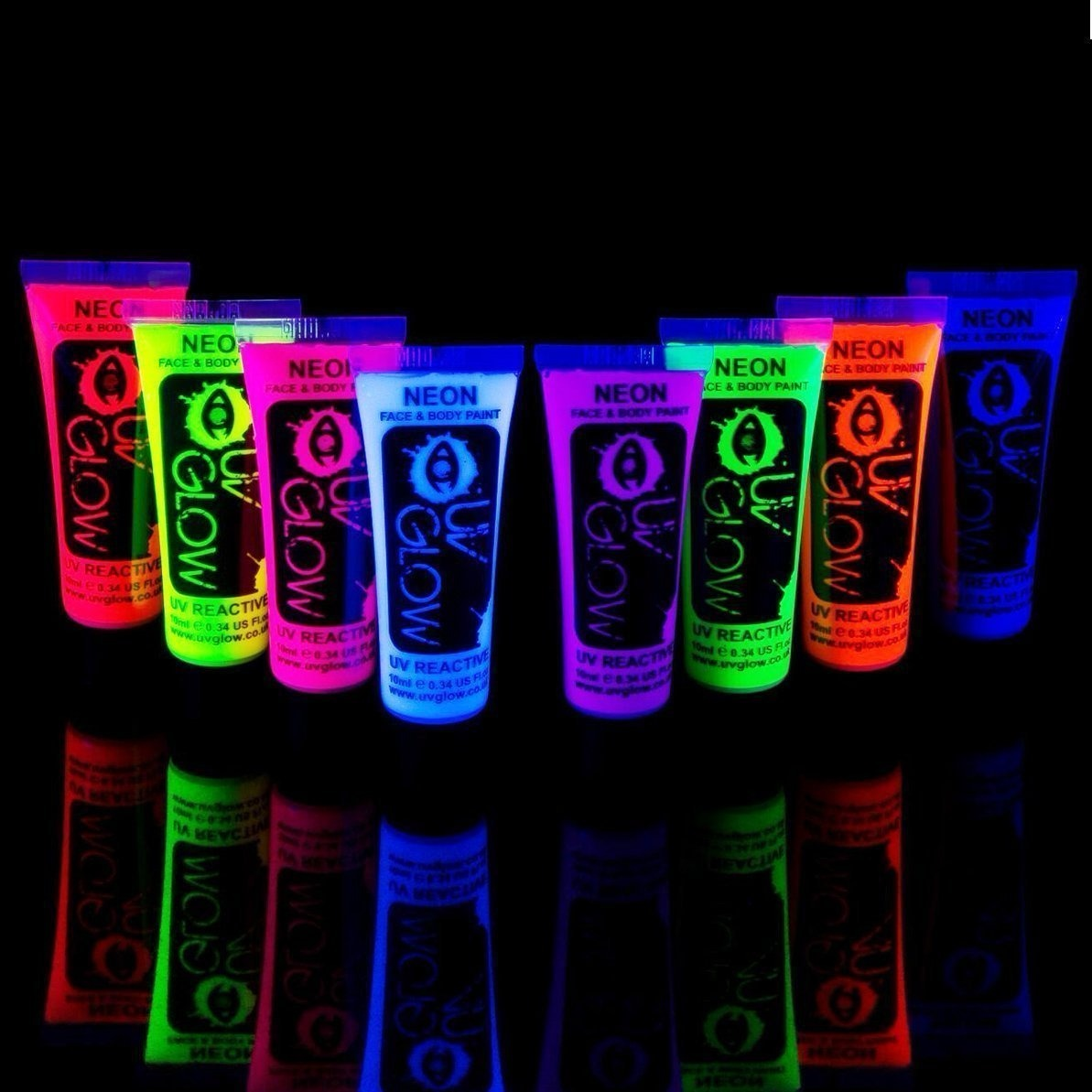 Pinturas Body Paint 6 Pintura Facial Neon Luminosa Uv Body Paint Luz Negra