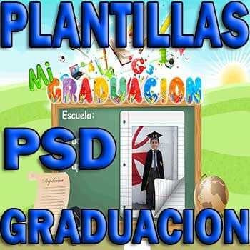 Plantillas Psd Graduacion Diplomas Grupales Marcos Toga E9 - Bs