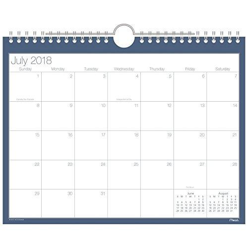 Mead Académico Calendario De Pared Mensual, Julio 2018 - 201