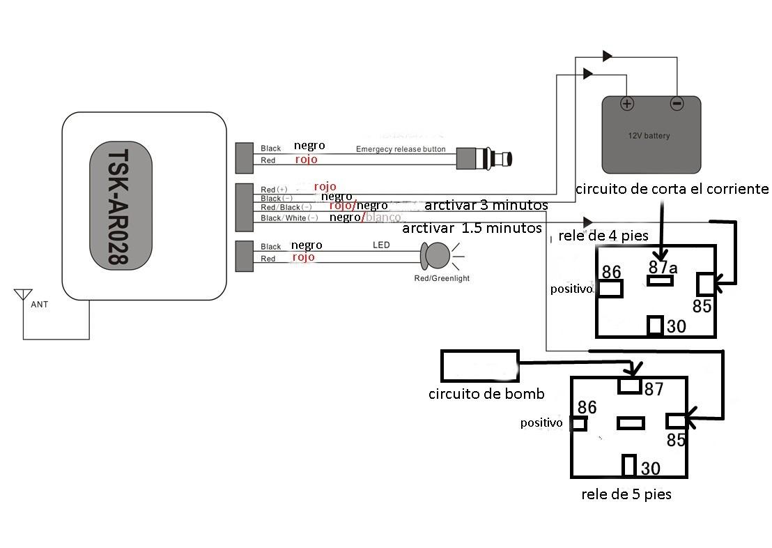 led diagrama de cableado dc