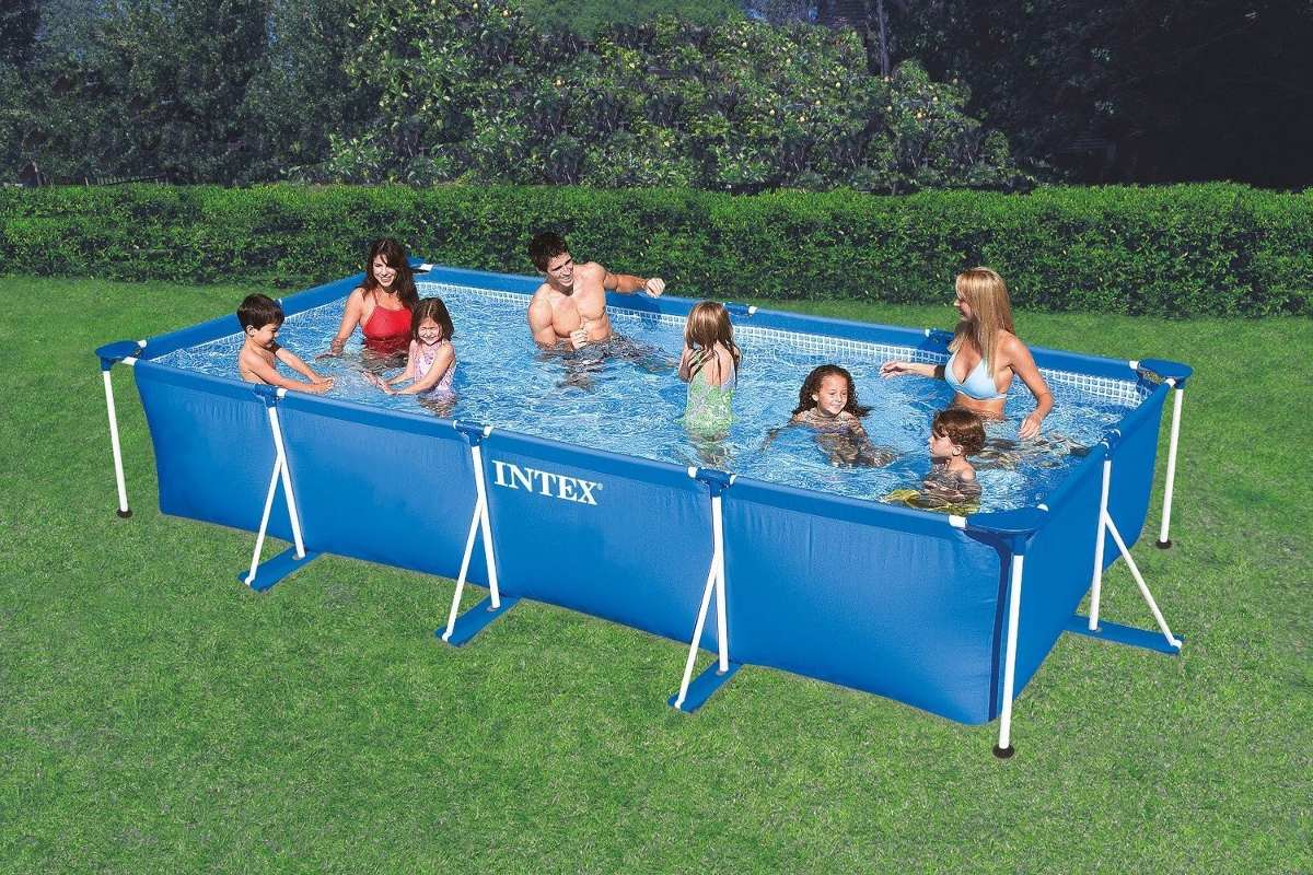 Amazon Piscina Alberca Familiar Rectangular De 4 5m X 2 2m X 84m