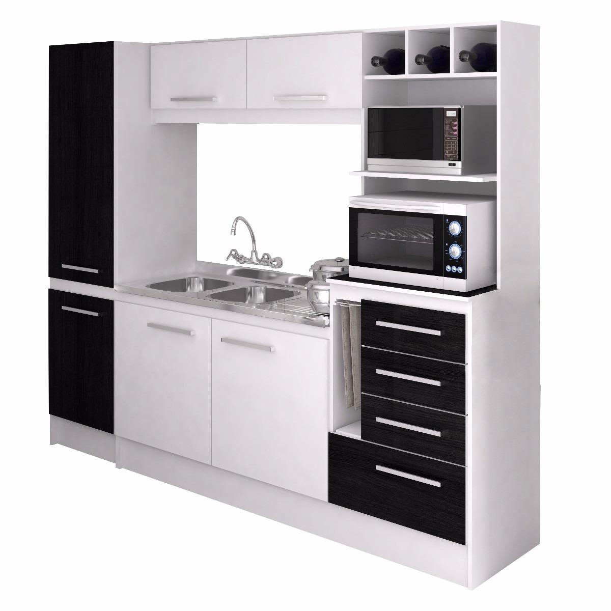 Muebles Para Cocina Color Blanco | Mueble Alto Enchapado En Formica ...
