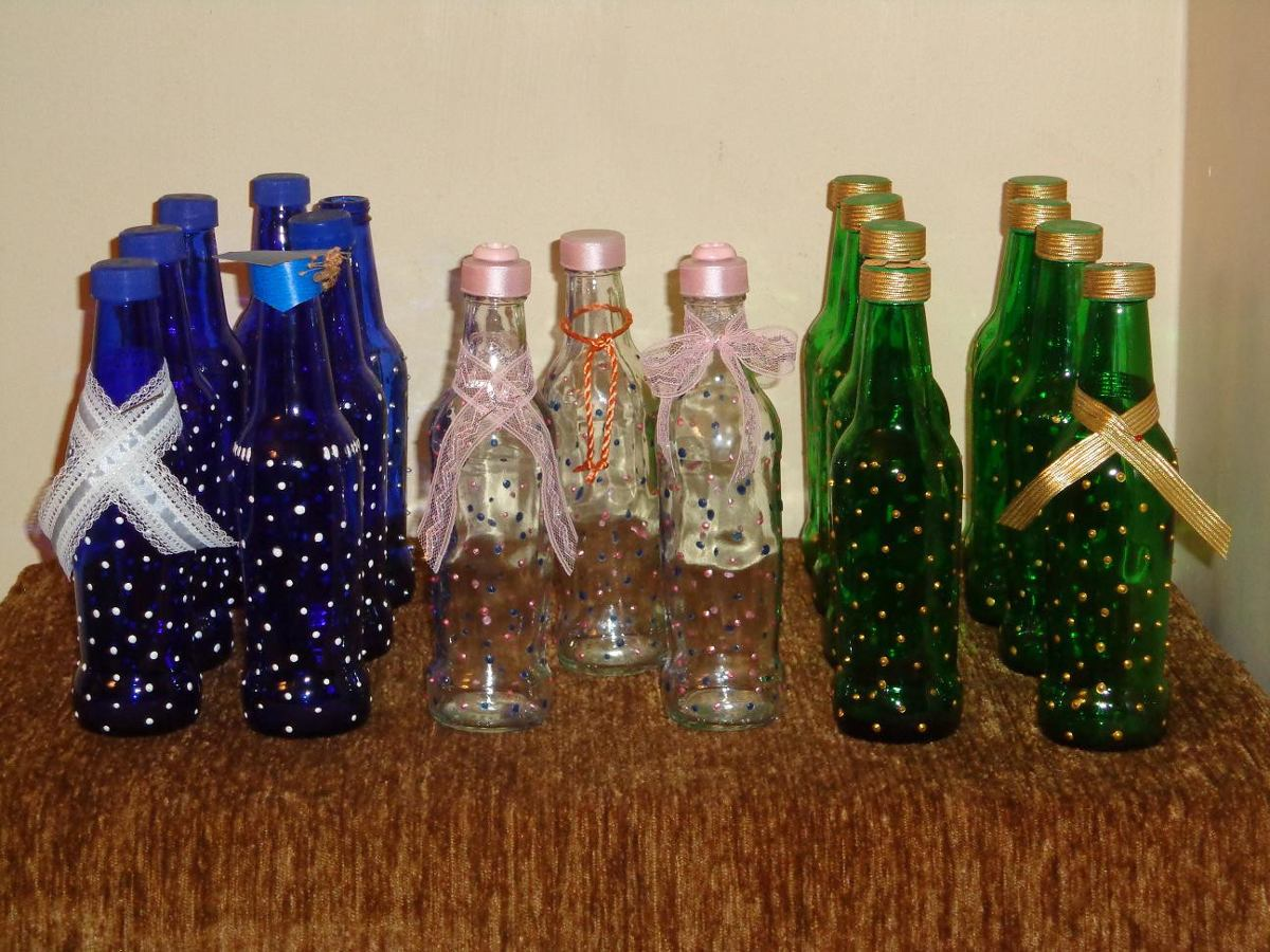 Comprar Botellas Decoradas Botellas De Vidrios Decoradas Para Cualquier Evento Bs