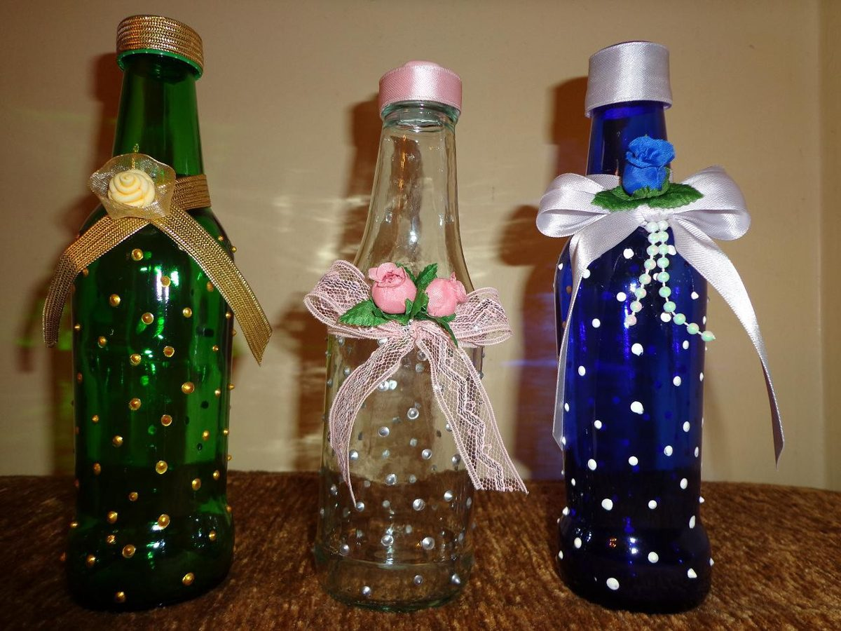 Botellas Decoradas Para 15 Botellas De Vidrios Decoradas Para Cualquier Evento Bs