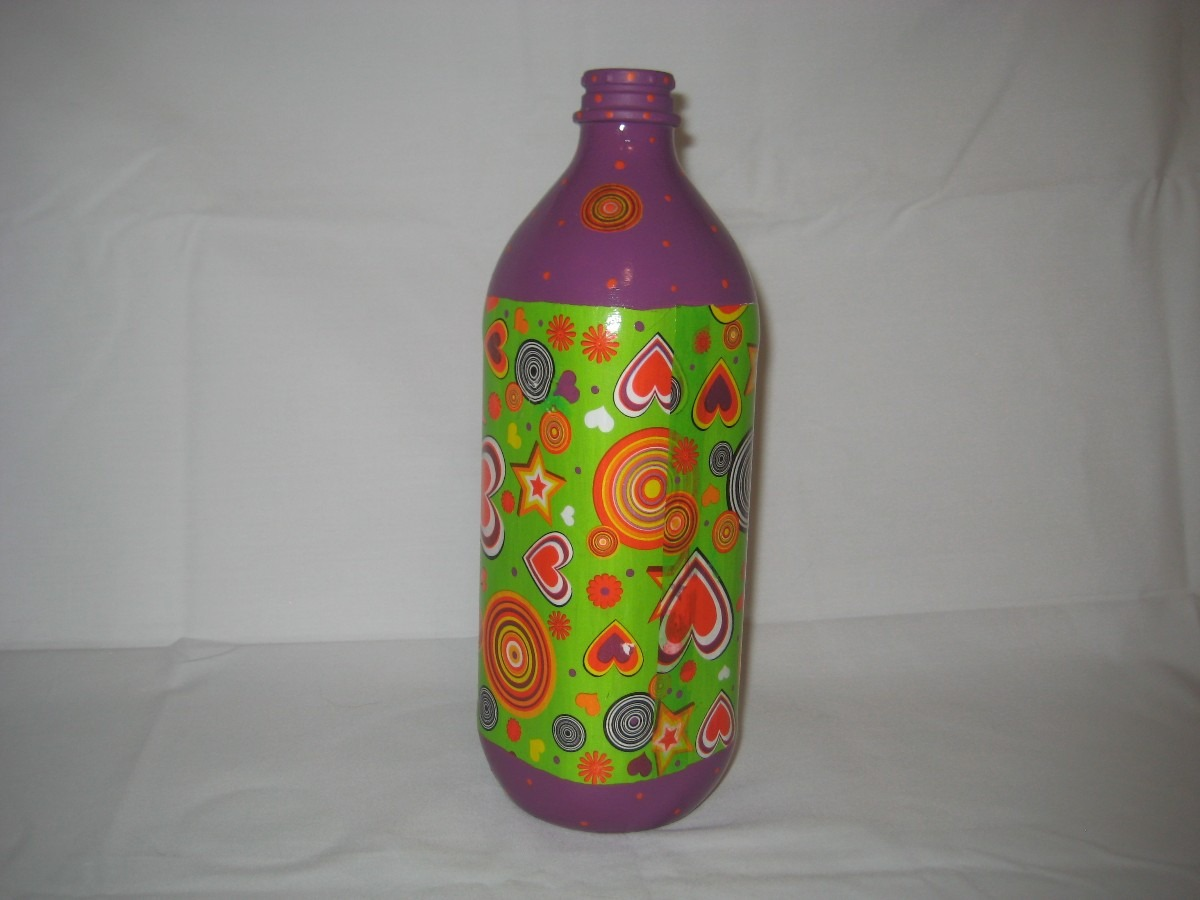 Comprar Botellas Decoradas Botellas Decoradas Con Decoupage Y Pintadas A Mano Bs