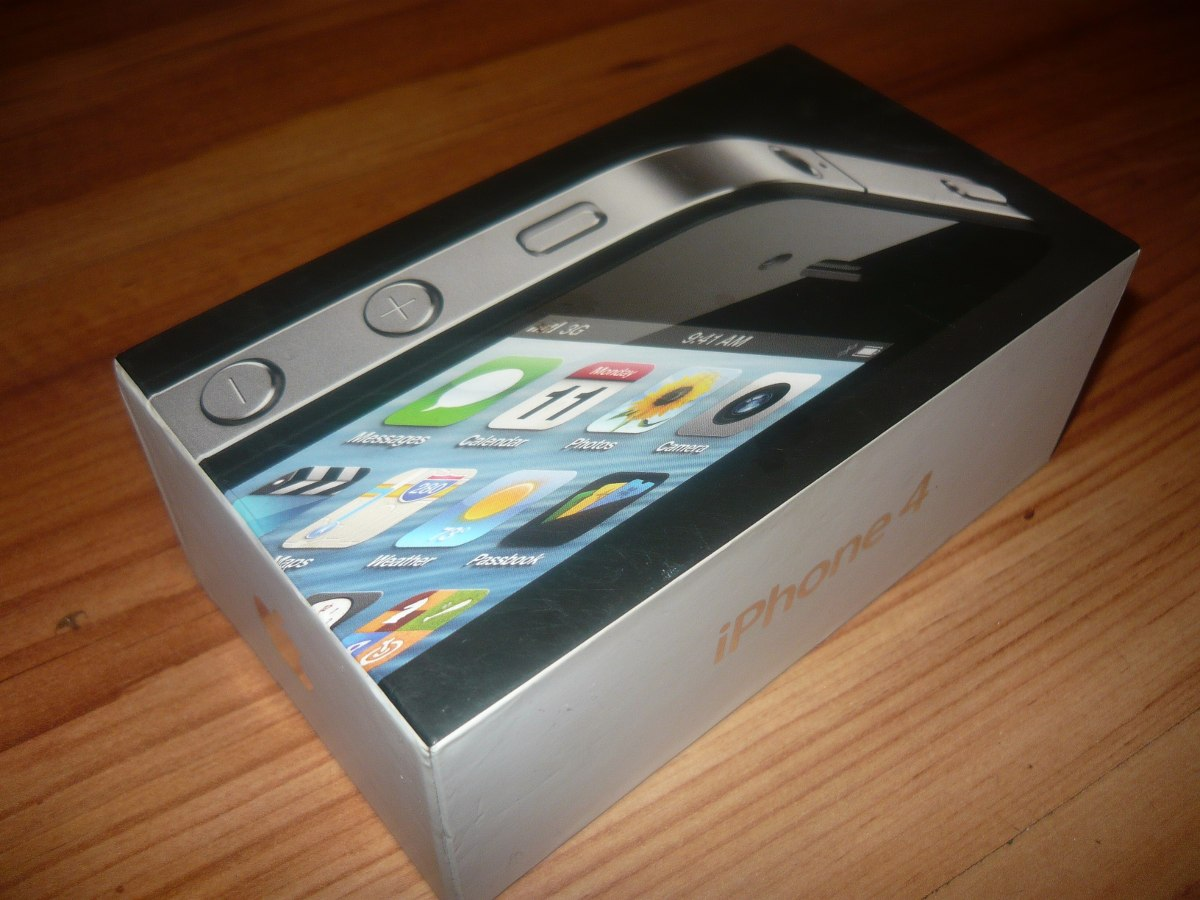 Vender Iphone 4 Libre Caja De Iphone 4 Black Negro 8gb Completo Con Saca Chip