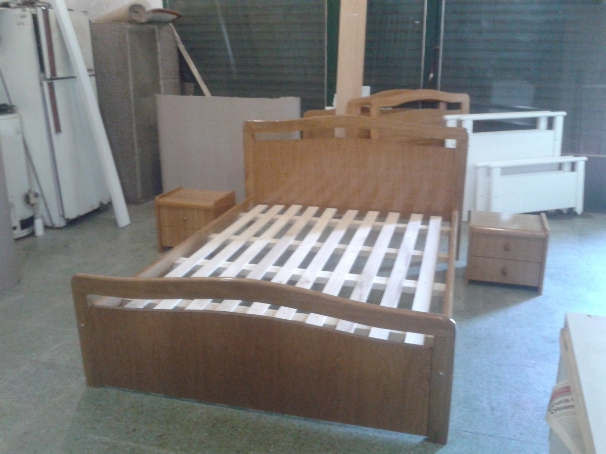 A Muebles Cama King Size 2 X 2 Madera Maciza Serie A Muebles