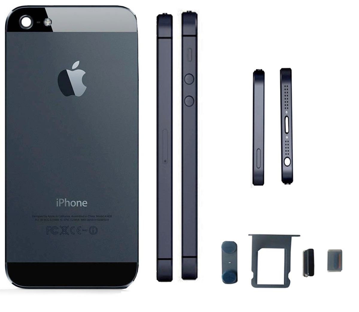 Phone House Iphone 5 Libre Carcasa Iphone 5 5g Negra 43 Botones 270 00 En Mercado