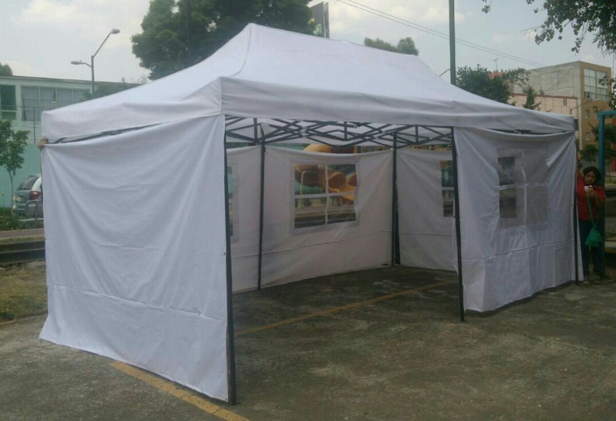 Toldo Pared Carpa Toldo Retractil 6x3 Metros Con Paredes - $ 5,250.00