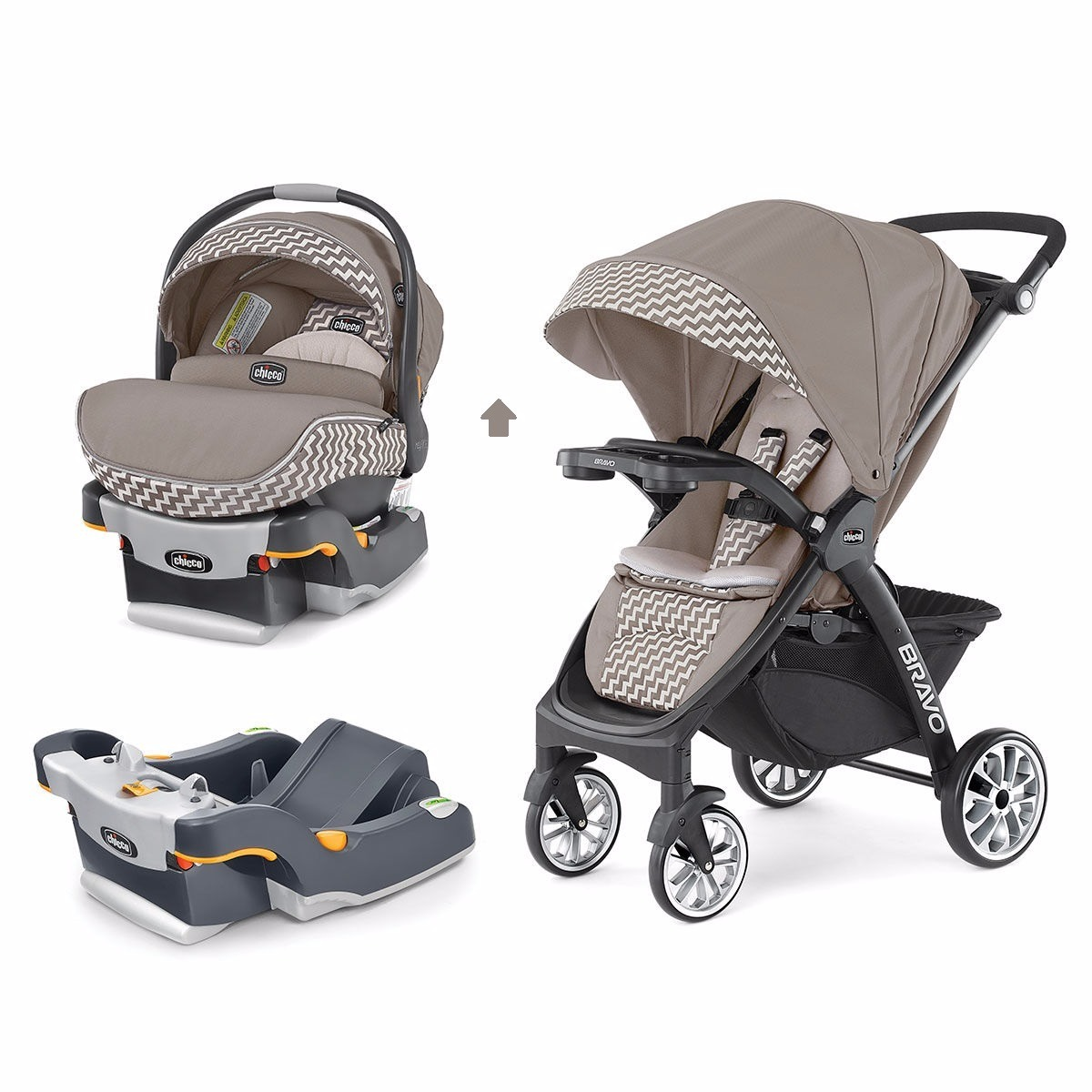 Baby Chicco Car Seat Carriola Bravo 3 En 1 Chicco Singapore Con Portabebe Y