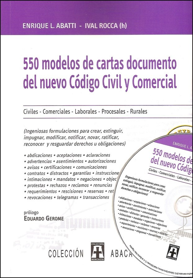 Cartas Documento Modelos Prácticos(nuev Cód) Abatti Rocca+cd - $ 950