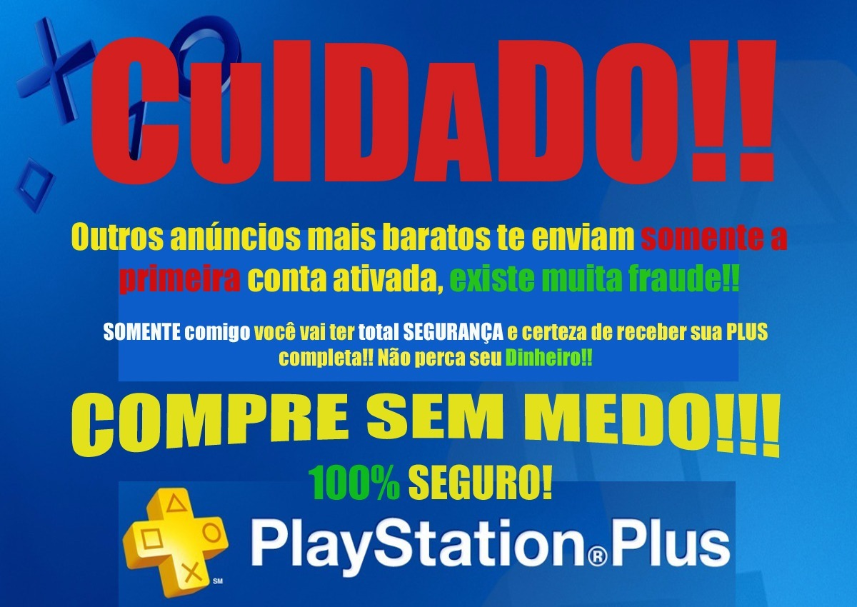 Playstation Plus 12 Meses Cartão Psn Playstation Plus 1 Ano Jogue Online Ps4 R 34