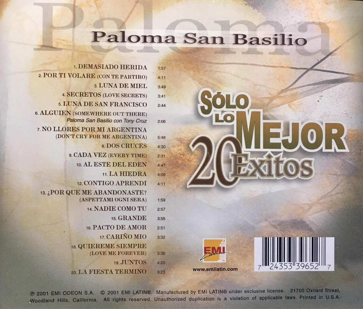 Youtube Paloma San Basilio Libre Cd Paloma San Basilio Solo Lo Mejor 20 Exitos Made In