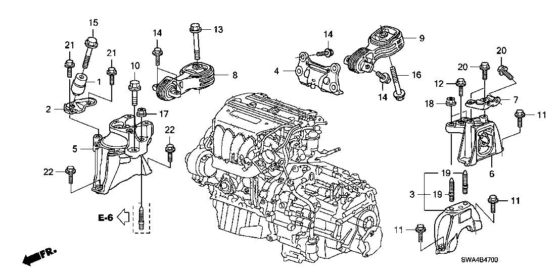 honda crv repair motor diagram