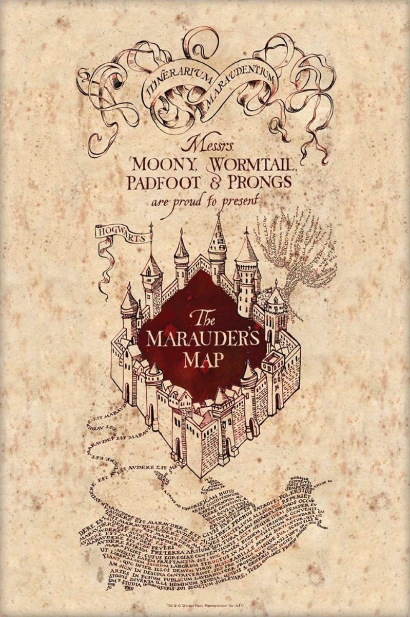 Cuadro Canvas Cuadro Decorativo En Tela, The Marauders Map Harry P