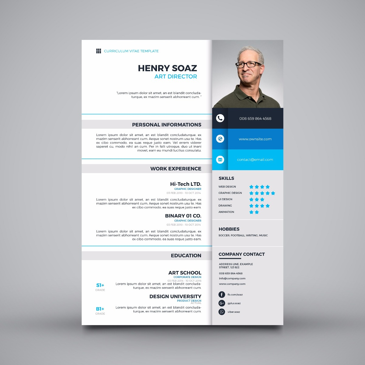 cv creativo download word
