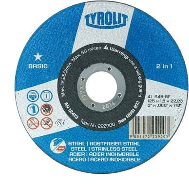 Disco Corte Tyrolit 41/2 Basic P/ Aço Carbono E Inox Esmer - R$ 3 - Basic P&l
