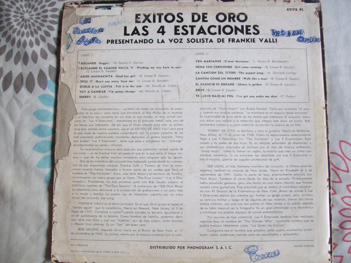 Camino De Oro Cancion Disco De Vinilo Retro Las 4 Estaciones Exitos De Oro 85 00
