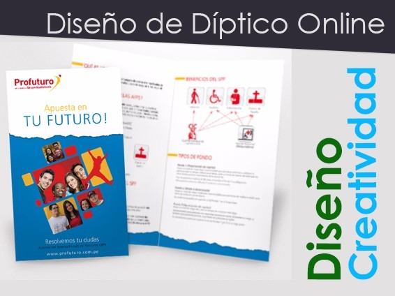 Diseño De Tripticos Y Dipticos Online - Impresion - Bs 65,00 en