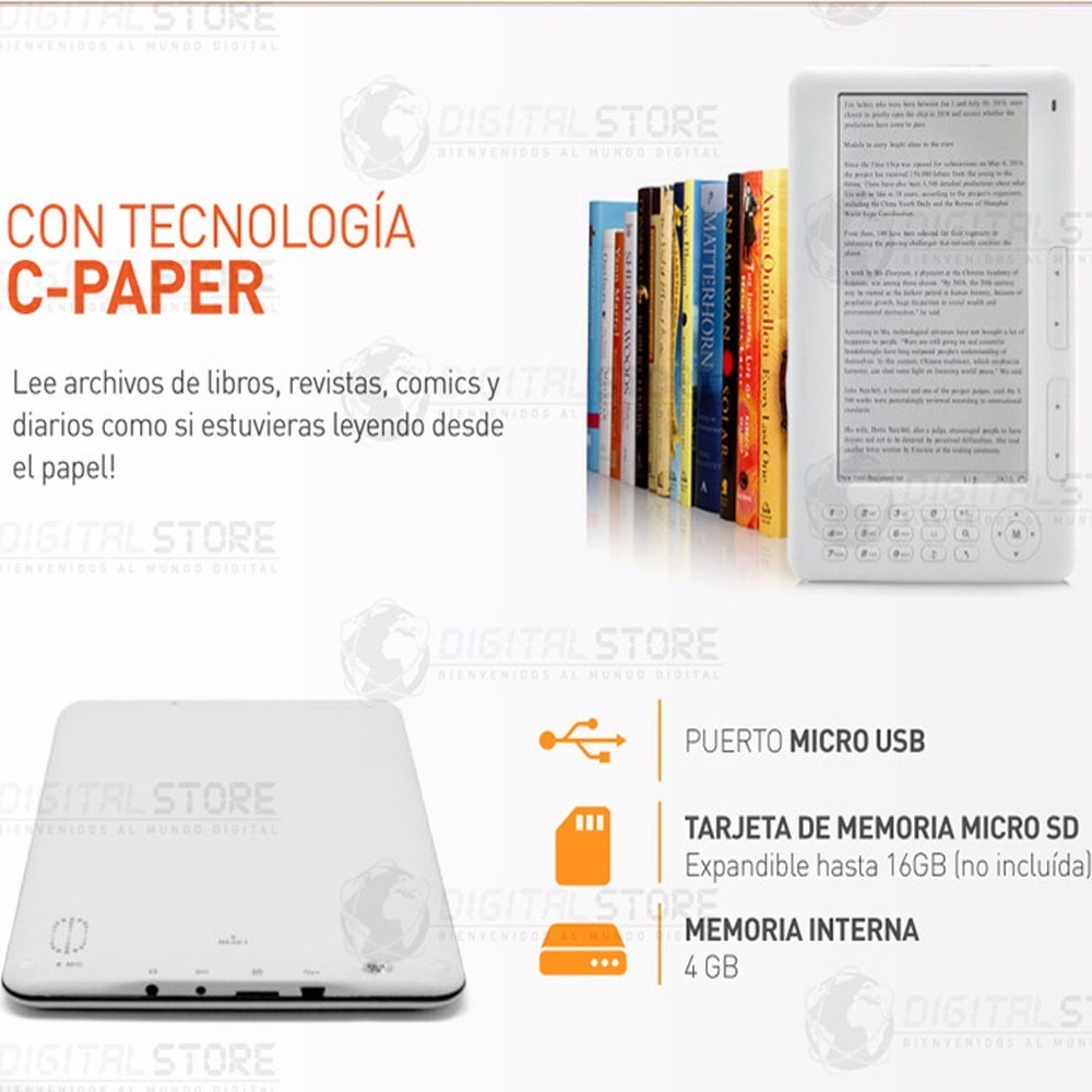 Bajar Libros Epub Papyre E Book Reader Lector Libros Digitales 7 Mp3 Mp4 Lcd Ebook