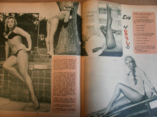 Dragon Ball Libros Eva Norvind Sexy Fotos 3 Revistas Mexico 1965-66 Flr